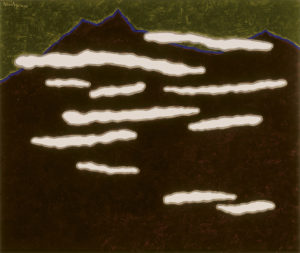 Smoke on the hill   2003   83x86 cm   oil on canvas