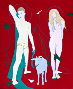Adam and Eve in Paradise | 2009 | 200x160 cm | oil on canvas
