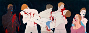 Mourning of Jesus | 2010 | 100x280 cm | oil on canvas