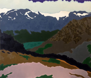 Lake Champfèr from above   2016   85x100 cm   oil on canvas